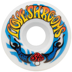 Flip Love Shrooms Skateboard Wheels - White - 54mm 99a (Set of 4)