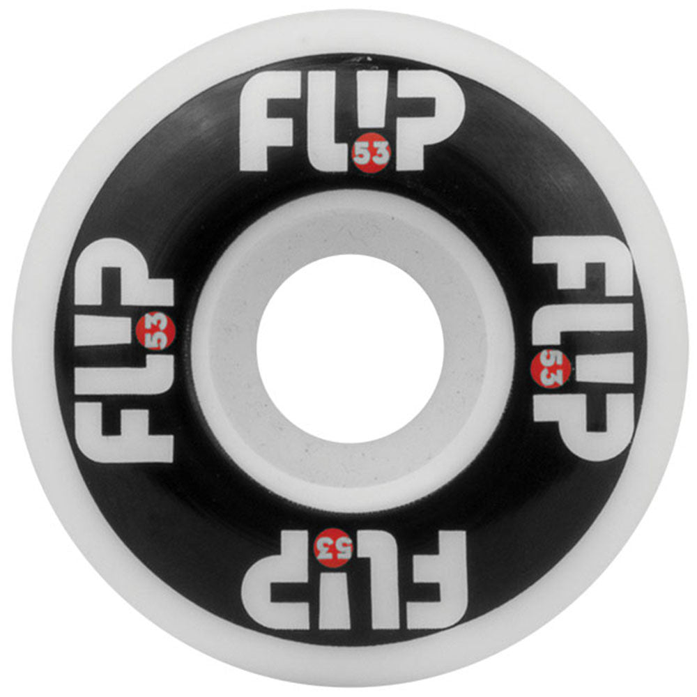 Flip Odyssey Logo Skateboard Wheels - Black/White - 53mm 99a (Set of 4)