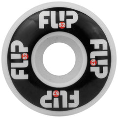 Flip Odyssey Logo Skateboard Wheels - Black/White - 52mm 99a (Set of 4)