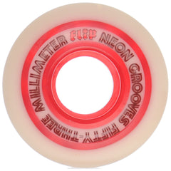 Flip Neon Grooves Skateboard Wheels - White - 53mm  (Set of 4)