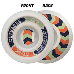 Flip Cutback Skateboard Wheels  - White - 52mm 99a (Set of 4)