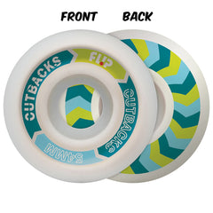 Flip Cutback Skateboard Wheels  - White - 54mm 99a (Set of 4)