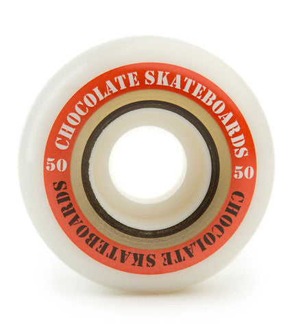 Chocolate Finish Line Skateboard Wheels 50mm - White (Set of 4)