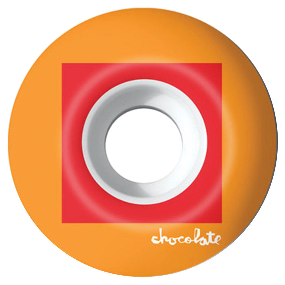 Chocolate Off Square Skateboard Wheels - Orange - 54mm (Set of 4)