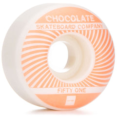 Chocolate RPM Skateboard Wheels - Beige/White - 51mm (Set of 4)