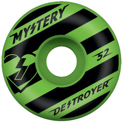 Mystery Destroyer Skateboard Wheels 52mm - Green/Black (Set of 4)