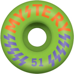 Mystery Victory Skateboard Wheel 51mm - Green (Set of 4)