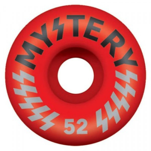 Mystery Victory Skateboard Wheel 52mm - Red (Set of 4)