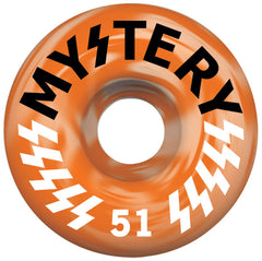 Mystery Victory - Orange Swirl - 51mm - Skateboard Wheel (Set of 4)