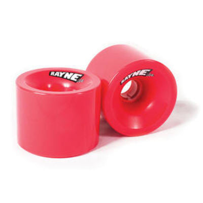 Rayne Greed Series Skateboard Wheels 66mm 80a - Red/Red Core (Set of 4)