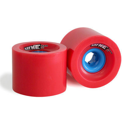 Rayne Lust Series Skateboard Wheels 75mm 77a - Red/Blue Core (Set of 4)