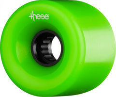 These ATF Centerset 327 Skateboard Wheels 66mm 80a - Green (Set of 4)
