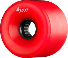 These ATF Centerset 327 Skateboard Wheels 66mm 80a - Red (Set of 4)