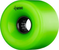 These ATF Centerset 327 Skateboard Wheels 66mm 82a - Green (Set of 4)