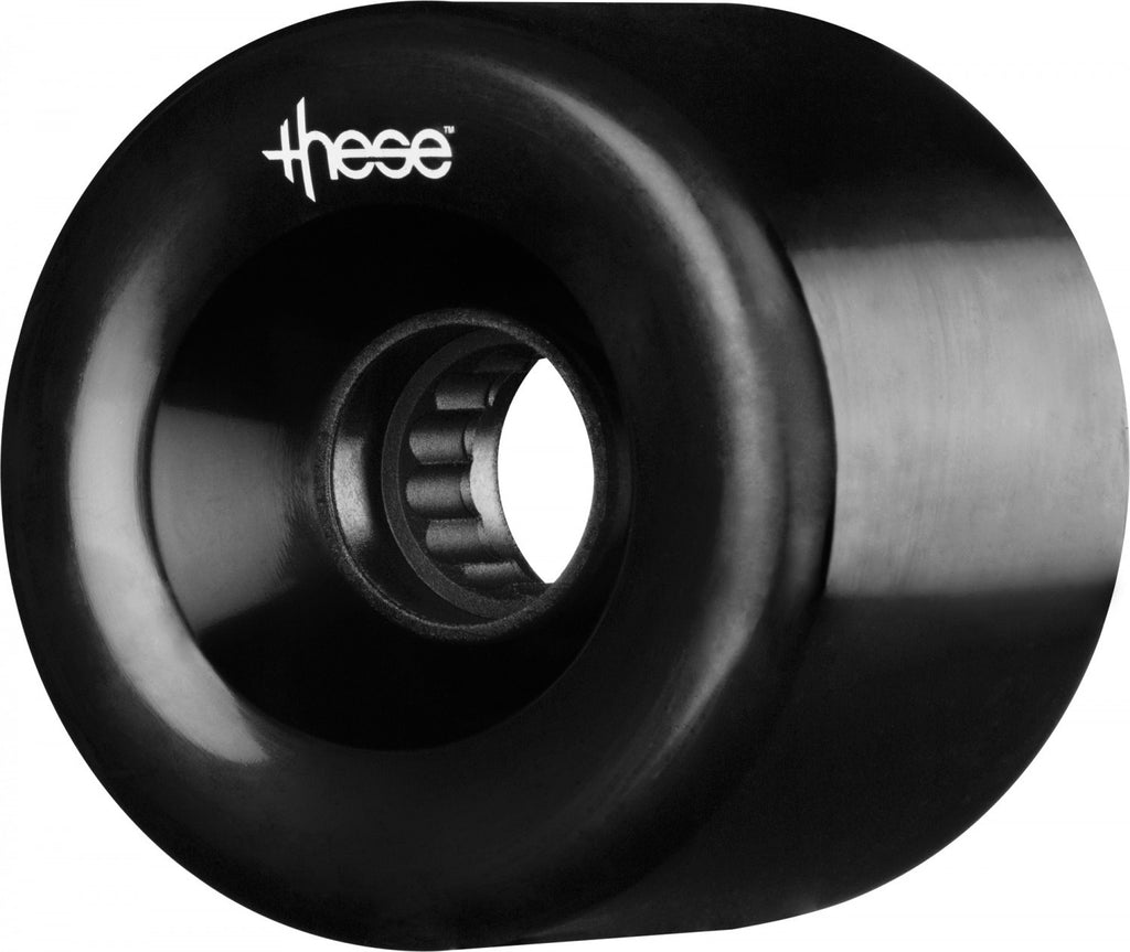 These ATF Centerset 327 Skateboard Wheels 66mm 82a - Black (Set of 4)