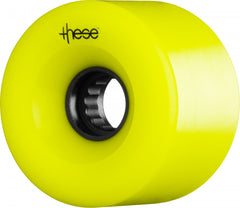 These ATF Centerset 327 Skateboard Wheels 66mm 82a - Yellow (Set of 4)