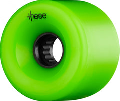 These ATF Centerset 327 Skateboard Wheels 69mm 82a - Green (Set of 4)