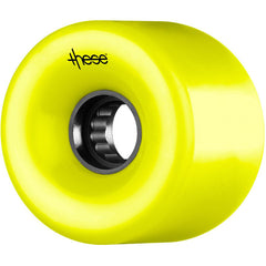 These ATF Centerset 327 Skateboard Wheels 69mm 82a - Yellow (Set of 4)