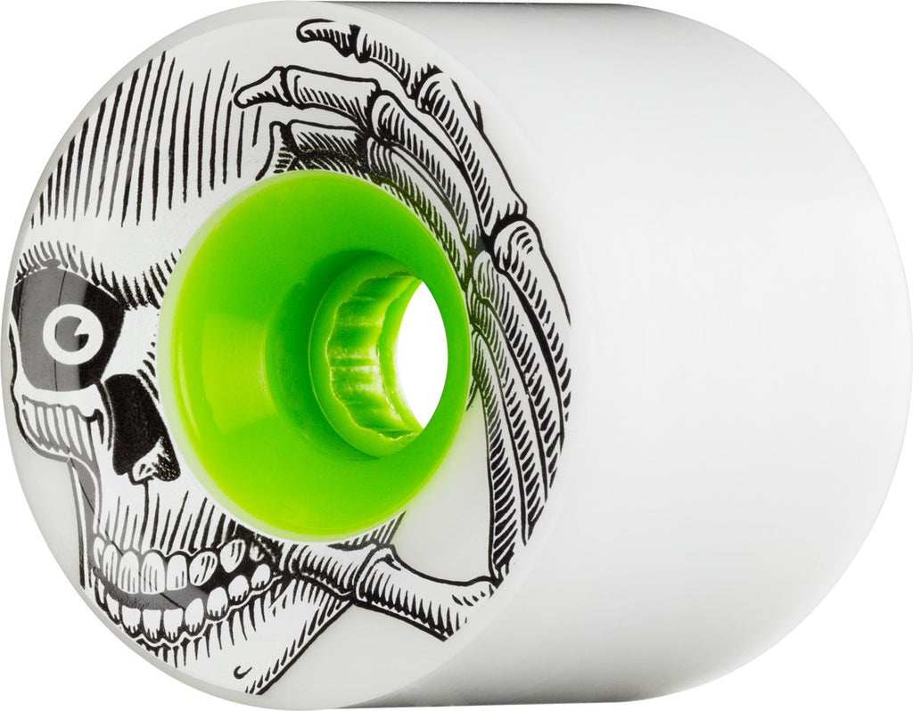 These K Rimes Stage 1 727 Skateboard Wheels 72mm 78a - White/Green Core (Set of 4)