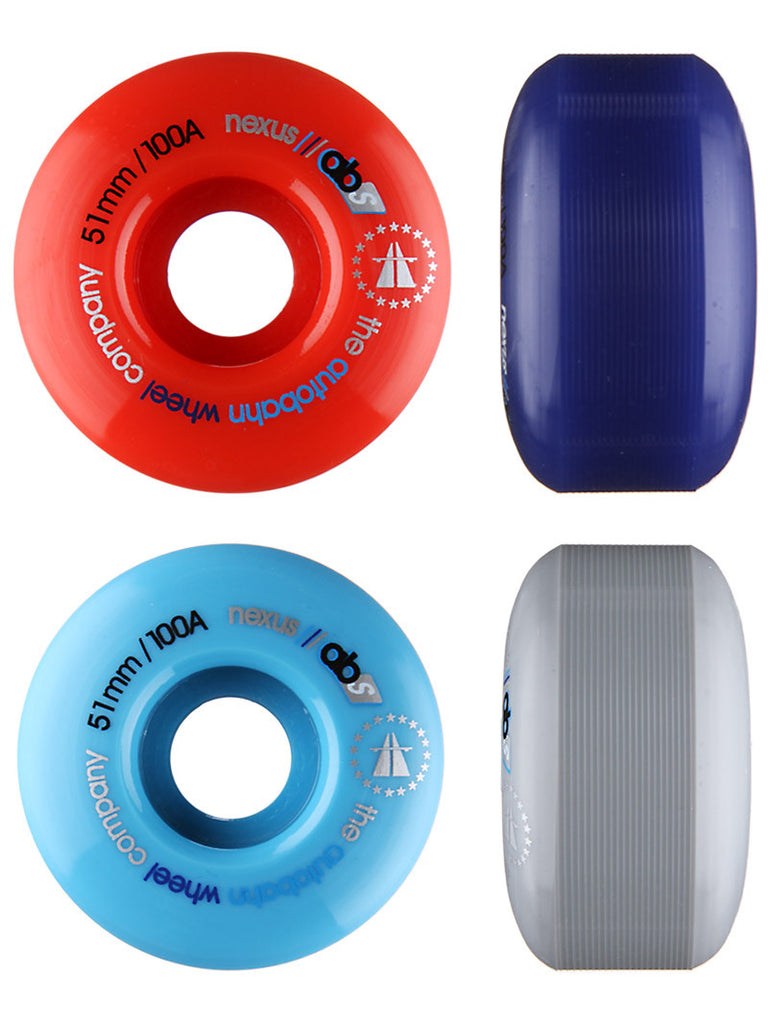 Autobahn Nexus Skateboard Wheels 51mm 100a - Multi Color (Set of 4)