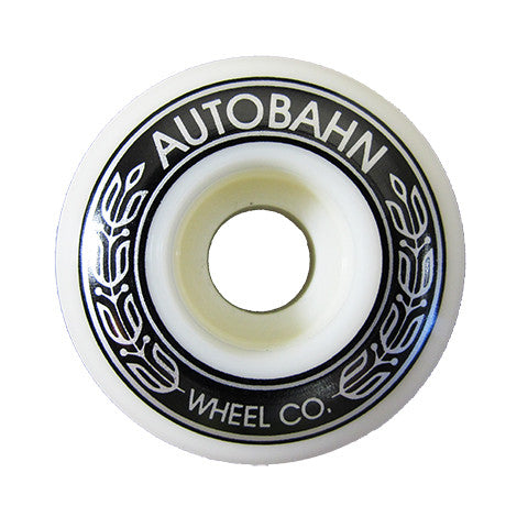 Autobahn AB-S Skateboard Wheels 52mm 99a - White (Set of 4)