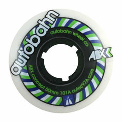 Autobahn ABX Skateboard Wheels 50mm 101a - White (Set of 4)