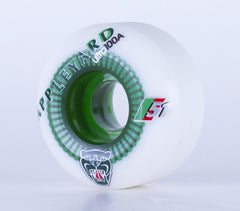 Autobahn Appleyard Big Cat Limited Edition Skateboard Wheels 52mm 100a - White/Jade (Set of 4)