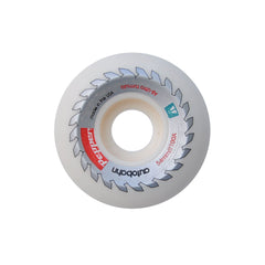 Autobahn Pepper Buzzsaw Skateboard Wheels 54mm 100a - White (Set of 4)