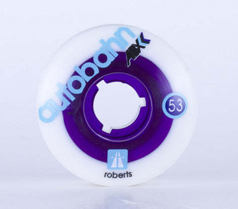 Autobahn Roberts ABX Skateboard Wheels 50mm 101a - White/Purple (Set of 4)