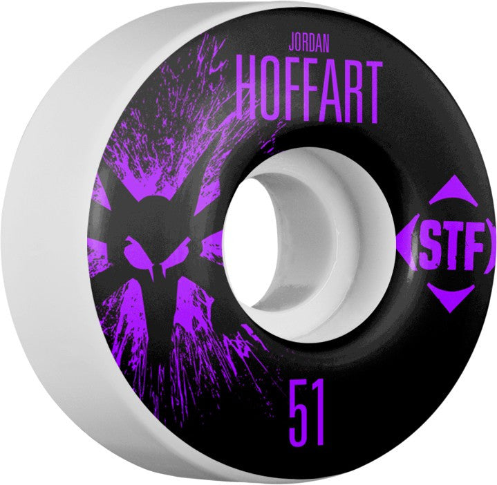 Bones STF V2 Pro Hoffart Team Splat Skateboard Wheels 51mm 83b - White (Set of 4)