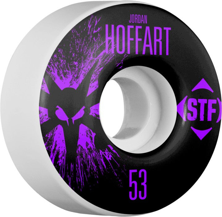 Bones STF V2 Pro Hoffart Team Splat Skateboard Wheels 53mm 83b - White (Set of 4)