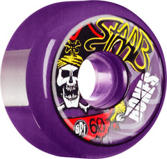 Bones SPF Pro Staab Pirate II Skateboard Wheels 60mm 84b - Purple (Set of 4)