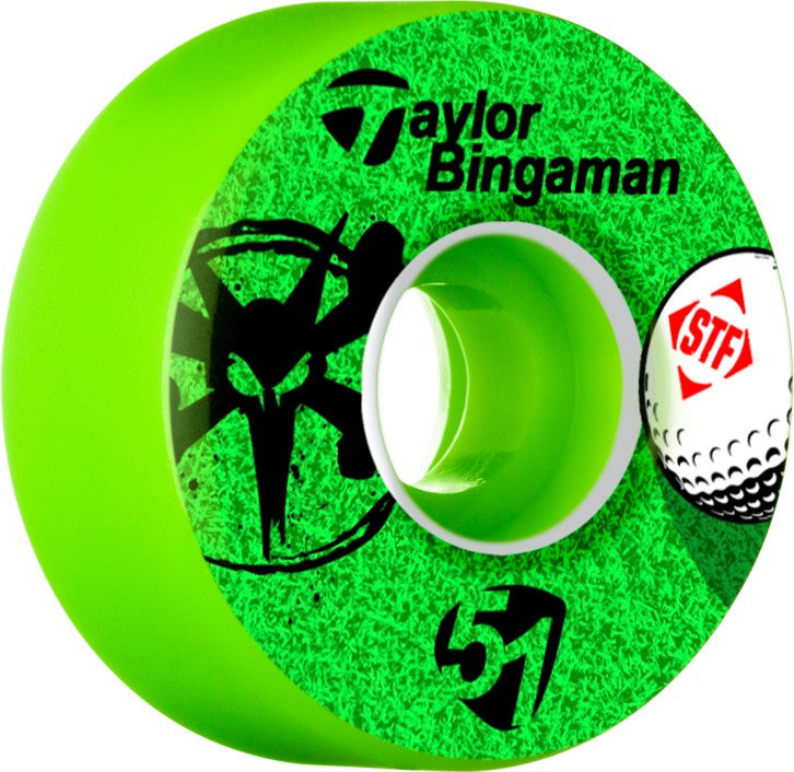 Bones STF V2 Pro Bingaman Aced Skateboard Wheels 51mm 83b - Green (Set of 4)