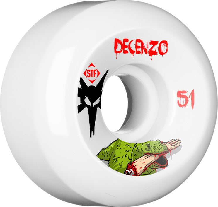Bones STF V5 Decenzo Dragon - White - 51mm 83b - Skateboard Wheels (Set of 4)