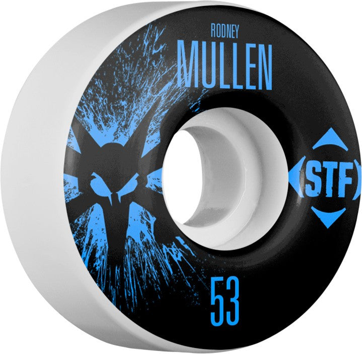 Bones STF V2 Mullen Splat - White - 53mm 83b - Skateboard Wheels (Set of 4)