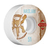 Bones STF Pro Haslam Vintage V1 Skateboard Wheels - White - 51mm (Set of 4)