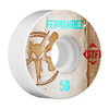 Bones STF Pro Fernandez Vintage V1 Skateboard Wheels - White - 50mm (Set of 4)