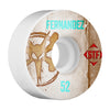 Bones STF Pro Fernandez Vintage V1 Skateboard Wheels - White - 52mm (Set of 4)