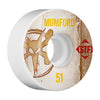 Bones STF Pro Mumford Vintage V1 Skateboard Wheels - White - 51mm (Set of 4)