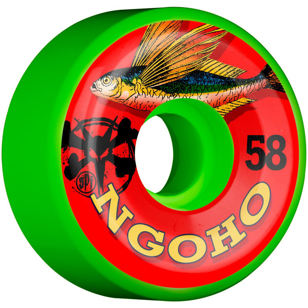 Bones SPF Pro Ngoho Fish Skateboard Wheels - Green - 58mm (Set of 4)