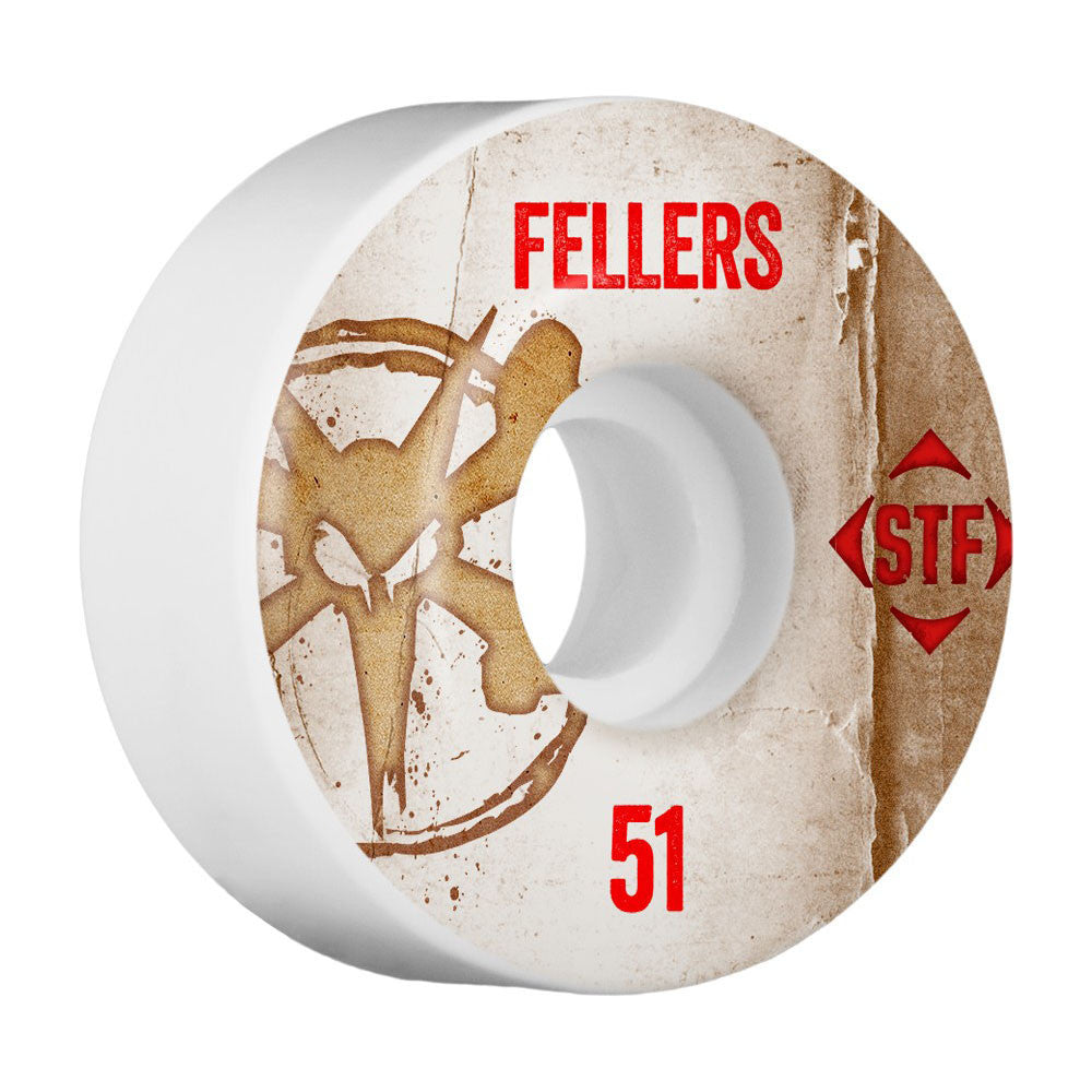 Bones STF Pro Fellers Vintage V2 Skateboard Wheels - White - 51mm (Set of 4)