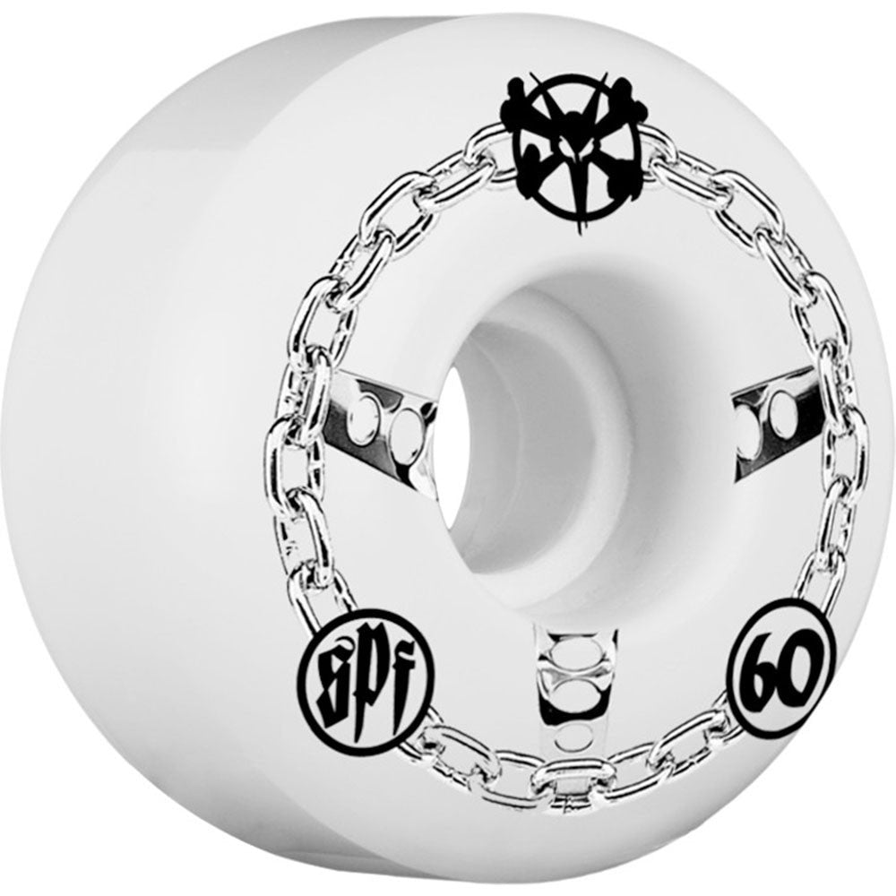 Bones SPF Chained Skateboard Wheels - White - 60mm (Set of 4)