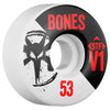 Bones STF V1 Series Skateboard Wheels - White - 53mm 83b (Set of 4)