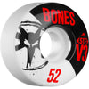 Bones STF V3 Series Skateboard Wheels - White - 52mm 83b (Set of 4)