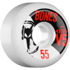 Bones STF V5 Series Skateboard Wheels - White - 55mm 83b (Set of 4)