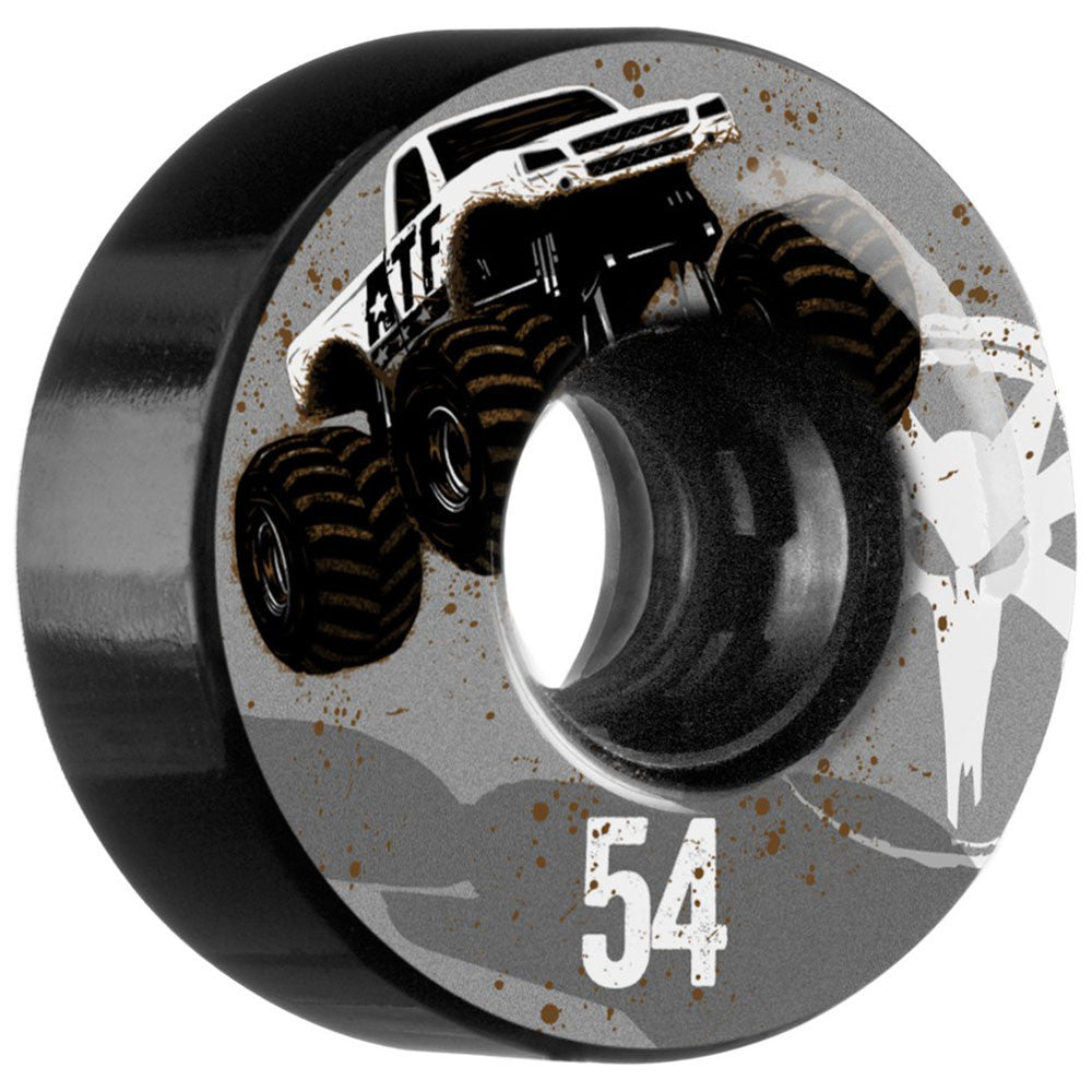Bones ATF Mudder Fudder Skateboard Wheels - Black - 54mm (Set of 4)