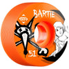 Bones STF Bartie Angel V1 Skateboard Wheels - Orange - 51mm (Set of 4)