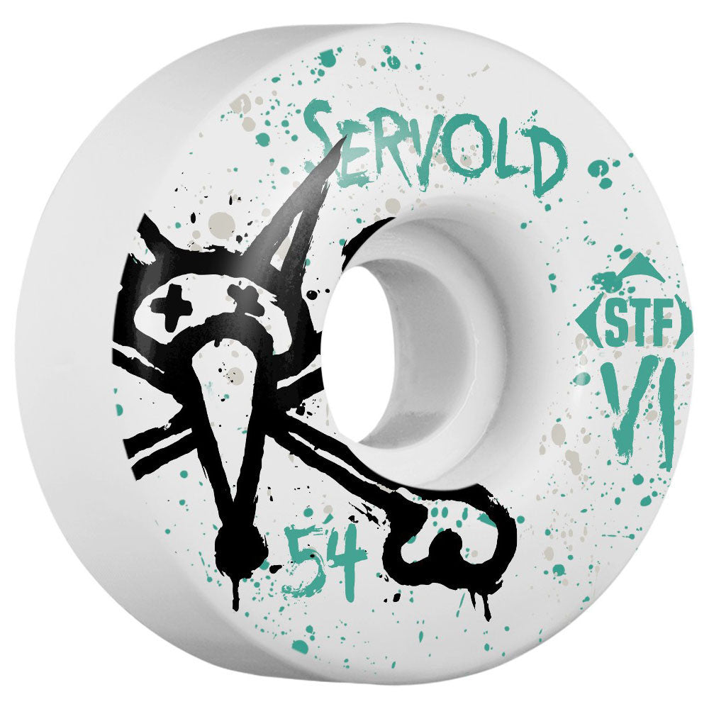 Bones STF Servold Vato Op V1 Skateboard Wheels - White - 54mm (Set of 4)