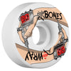 Bones STF Wray For Life V3 Skateboard Wheels - White - 52mm (Set of 4)