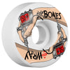 Bones STF Wray For Life V3 Skateboard Wheels - White - 54mm (Set of 4)